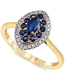 Sapphire (5/8 ct. t.w.) & Diamond (1/6 ct. t.w.) Ring in 14k Gold