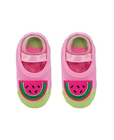 Toddler and Little Girls Socks with Watermelon Applique