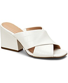 Women's Step 'N Flex Wellenna Cross-Band Sandals, Created for Macy's