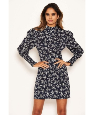 Women's Ditsy Floral Puff Sleeve Skater Dress