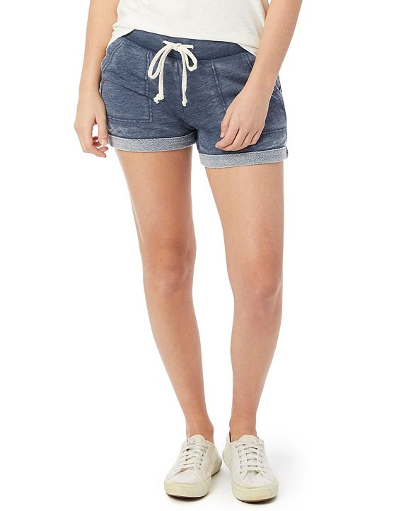 Alternative Apparel Lounge Burnout French Women's Terry Shorts