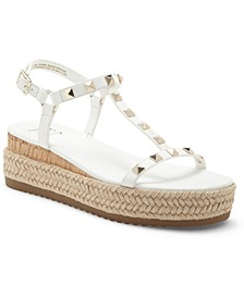 INC Silvana Studded T-Strap Espadrille Sandals, Created for Macy's