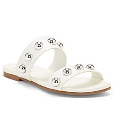 INC Women's Galli Ball-Stud Slide Sandals, Created for Macy's