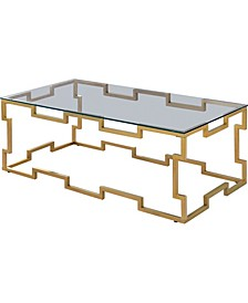 TallisTon Glass Top Coffee Table