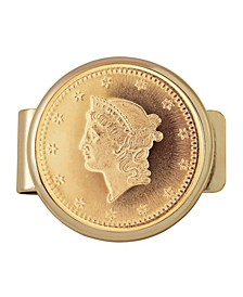 Tribute To 1 Dollar 1849 Gold Coin Money Clip