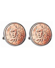 French 2-Euro Coin Cufflinks