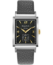 Men's Frank Sinatra My Way Gray Leather Strap Watch, 29.5 x 47mm