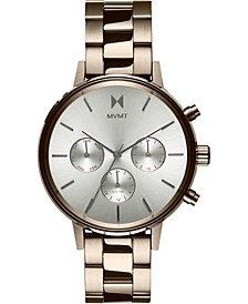 Women's Chronograph Nomad Land Beige Gold-Tone Stainless Steel Bracelet Watch 38mm