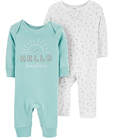 Baby Boys or Girls 2-Pack Cotton Coveralls