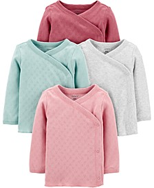 Baby Girls 4-Pack Side-Snap Cotton Shirts