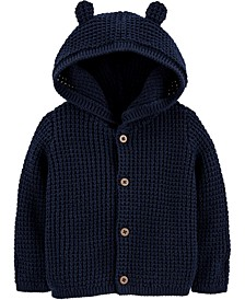 Baby Boys Hooded Cotton Cardigan Sweater