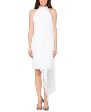 Chiffon-Overlay Dress
