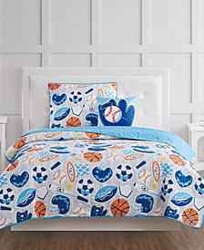 All Star Twin 3 Piece Quilt Set