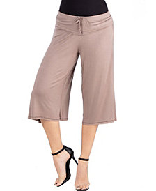 24seven Comfort Apparel Loose Fit Straight Soft Drawstring Pant
