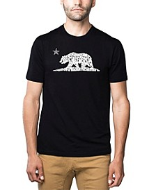Men's Premium Word Art T-shirt - California Dreamin