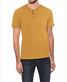 Men's Soft Stretch Henley T-Shirt