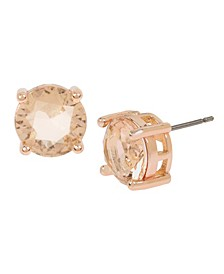 CZ Stone Stud Earrings