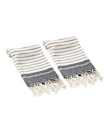 Mila 2 Piece Hand or Kitchen Towel Set