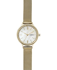 Women's Anita Gold-Tone Stainless Steel Mesh Bracelet Watch 30mm