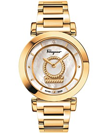 Women's Swiss Minuetto Gold-Tone Stainless Steel Bracelet Watch 36mm