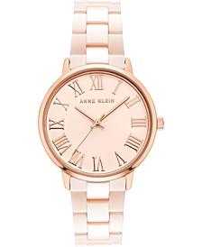 Women's Two-Tone Ceramic Bracelet Watch 34mm