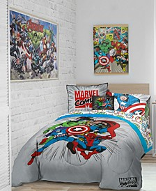 Comics 'Get Together' 6pc Twin bed in a bag