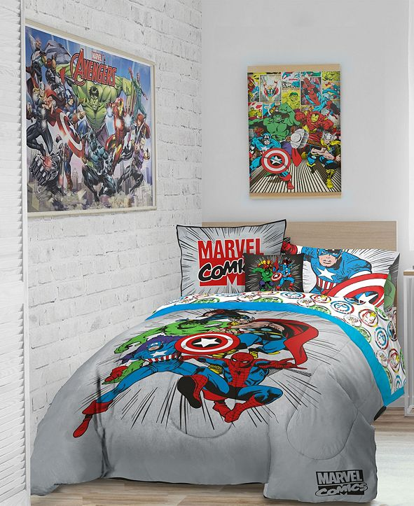 Marvel Comics 'Get Together' 6pc Twin bed in a bag
