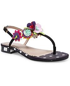 Esmee Floral Flat Sandals