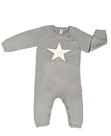 Baby Boys Organic Bamboo Knit Star Romper