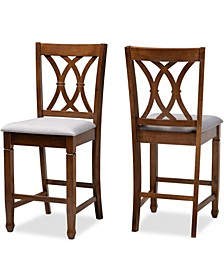 Reneau Modern and Contemporary Upholstered 2 Piece Counter Height Pub Chair Set