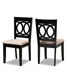 Lenoir Transitional 2 Piece Dining Chair Set with Seat