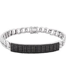 Men's Black Diamond Pavé Link Bracelet (1/2 ct. t.w.) in Sterling Silver (Also Available in White Diamonds)