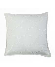 18x18 Ava Embroidered Pillow in Natural