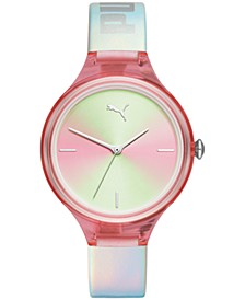 Women's Contour Holographic Leather Strap Watch 36mm