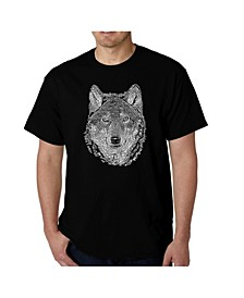 Men's Word Art - Wolf T-Shirt
