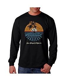 Men's Word Art - Cities in San Diego Long Sleeve T-Shirt