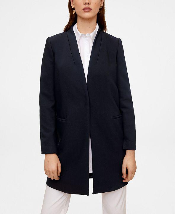 MANGO Straight Pocketed Coat