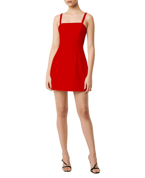 French Connection Whisper Straight Neck Dress