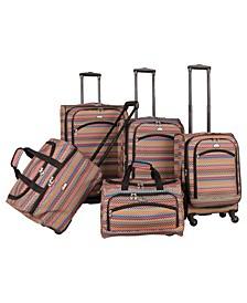 5 Piece Spinner Luggage Set