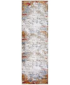 """Solar SOR-2303 Copper 3' x 9'10"""" Runner Area Rug"""
