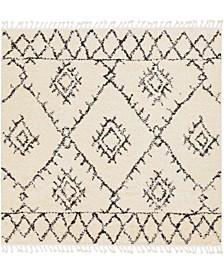 "Berber Shag BBE-2305 Charcoal 7'10"" x 7'10"" Square Area Rug"