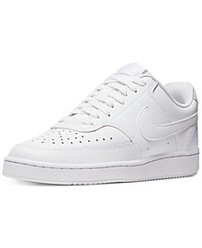 Women's Nikecourt Vision Low Casual Sneakers from Finish Line