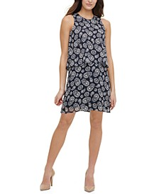 Petite Paisley-Print Shift Dress