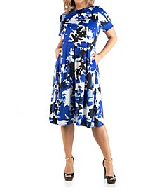 Women's Plus Size Abstract Print Dress