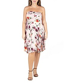 Women's Plus Size Floral Summer Dress