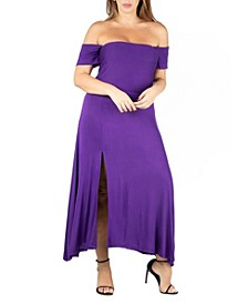 Women's Plus Size Off Shoulder Dress