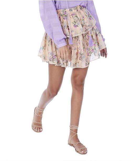ALLISON NEW YORK Women's Floral Mini Skirt