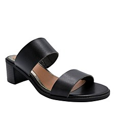 Women's Halo Two-Band Block-Heel Slides