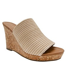 Women's Haruki Raffia Platform Wedge Slides