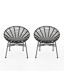Jefferson Outdoor Dining Chairs with Cushions, Set of 2